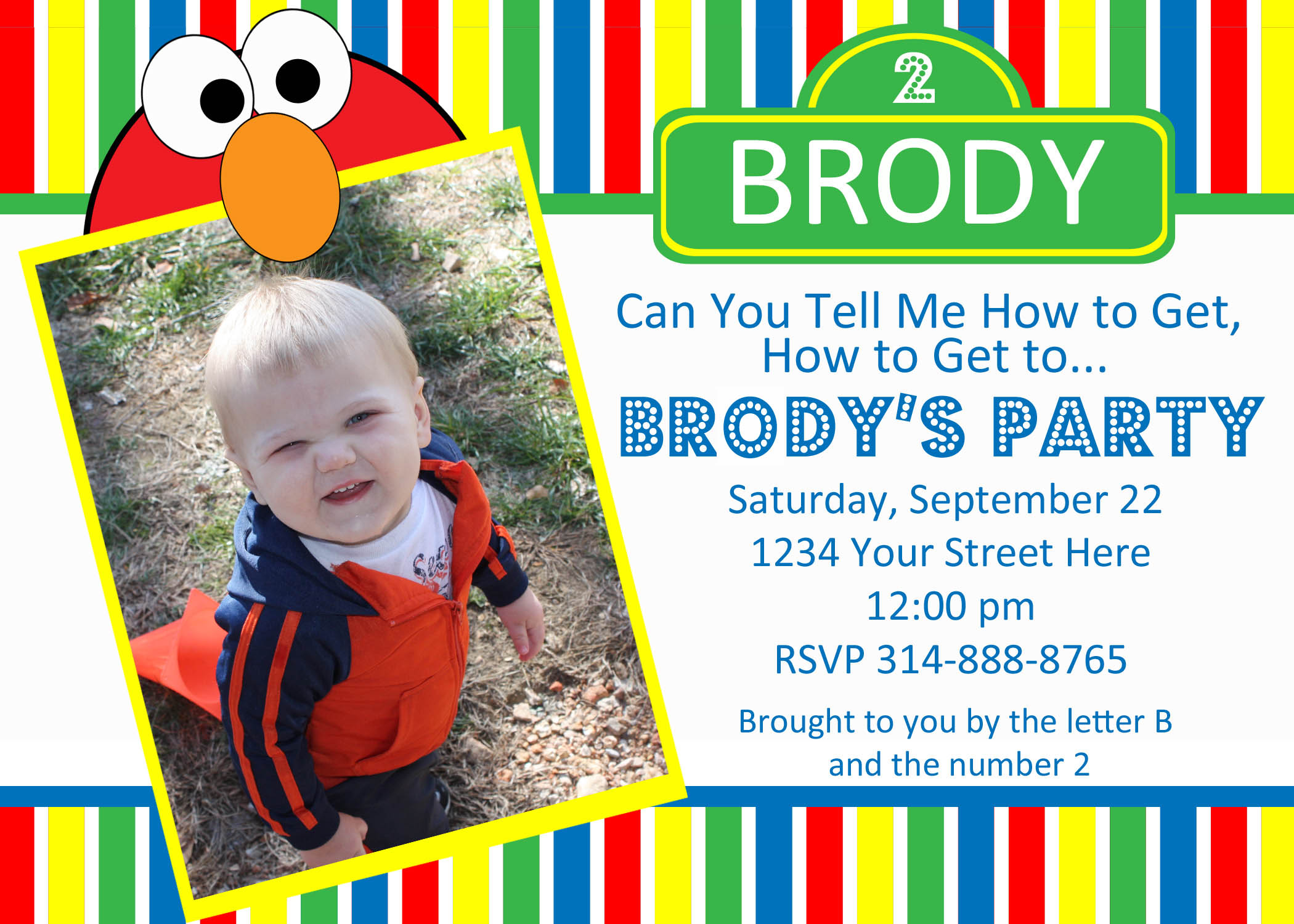 personalized photo elmo birthday invitations ; sesame-street-party-invitations-personalized-to-make-your-remarkable-Party-invitations-unique-and-creative-8