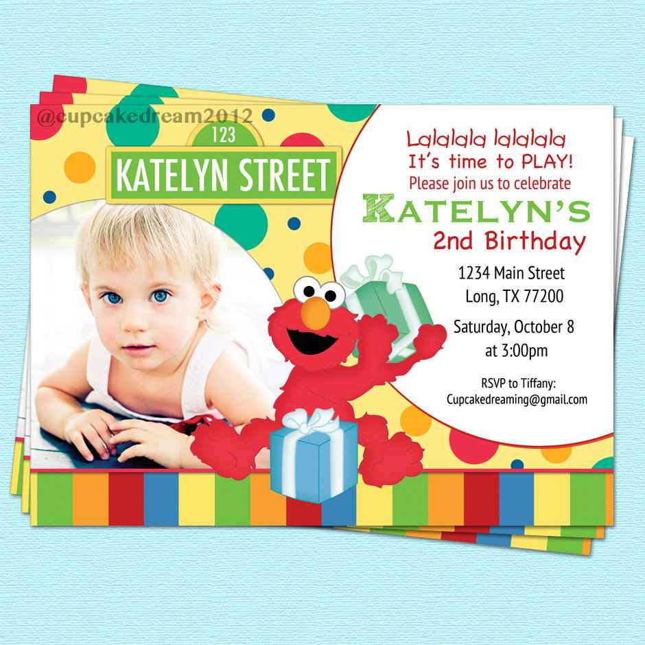 personalized photo elmo birthday invitations ; sesame_street_birthday_party_invitations_personalized_elmo_sesame_2