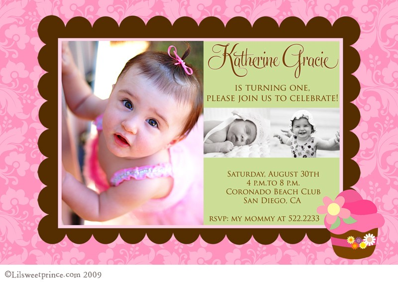 personalized photo first birthday invitations ; 1st_birthday_cupcake_invitations