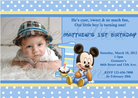 personalized photo first birthday invitations ; ba-mickey-mouse-birthday-invitation-personalized-mickey-mouse-1st-birthday-invitations