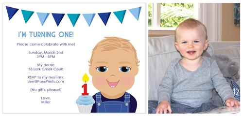 personalized photo first birthday invitations ; boy-first-birthday-invitation-archives-personalized-stationery-first-birthday-invitation-for-boy