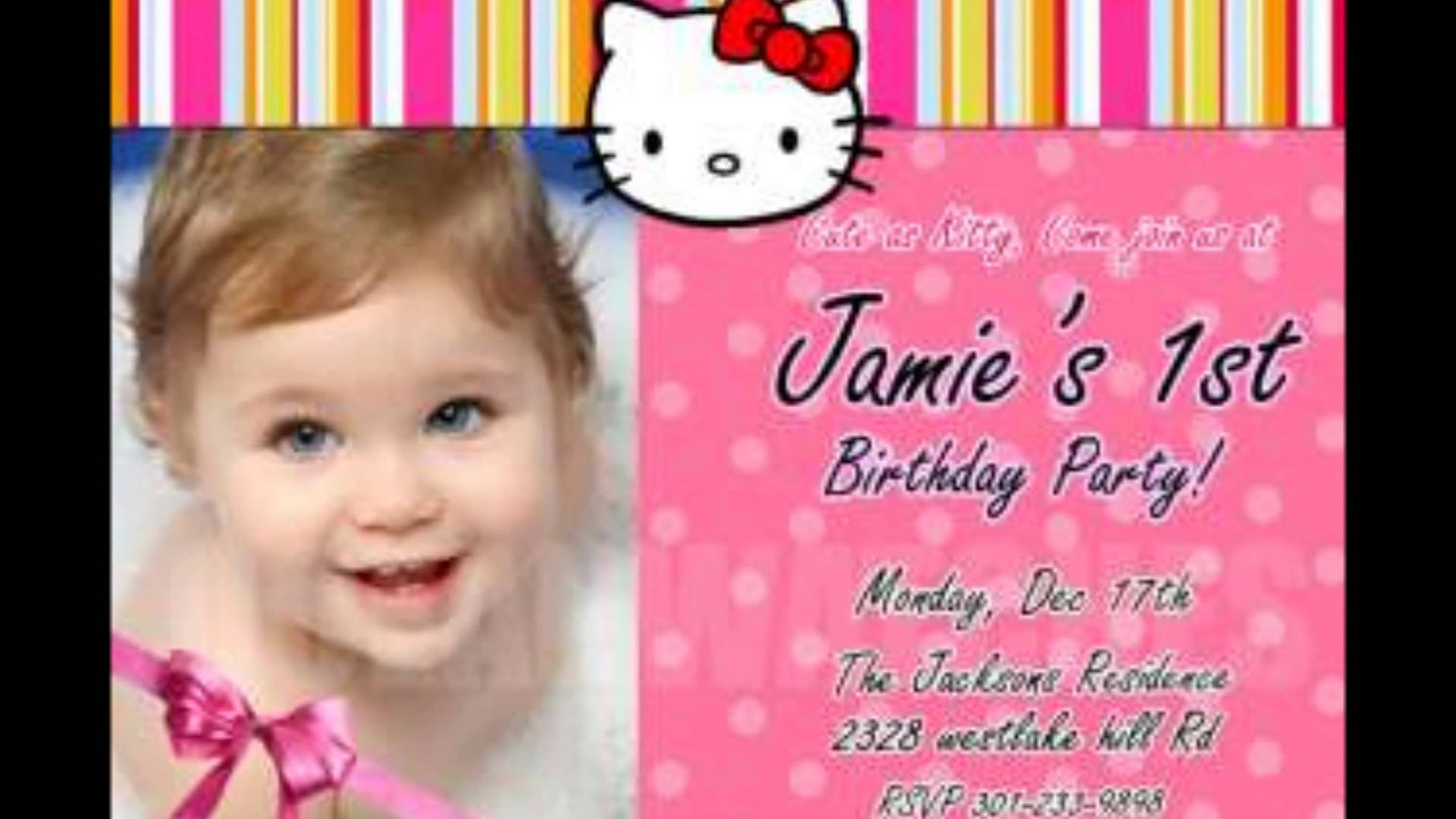 personalized photo first birthday invitations ; maxresdefault