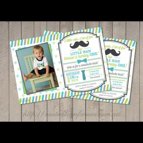 personalized photo first birthday invitations ; my-little-man-personalized-birthday-party-invitation-a