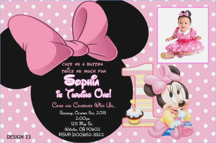 personalized photo first birthday invitations ; personalized-minnie-mouse-first-birthday-invitations-personalized-of-minnie-mouse-first-birthday-invitation