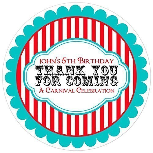 personalized stickers for birthday favors ; 51DPq9qYN1L
