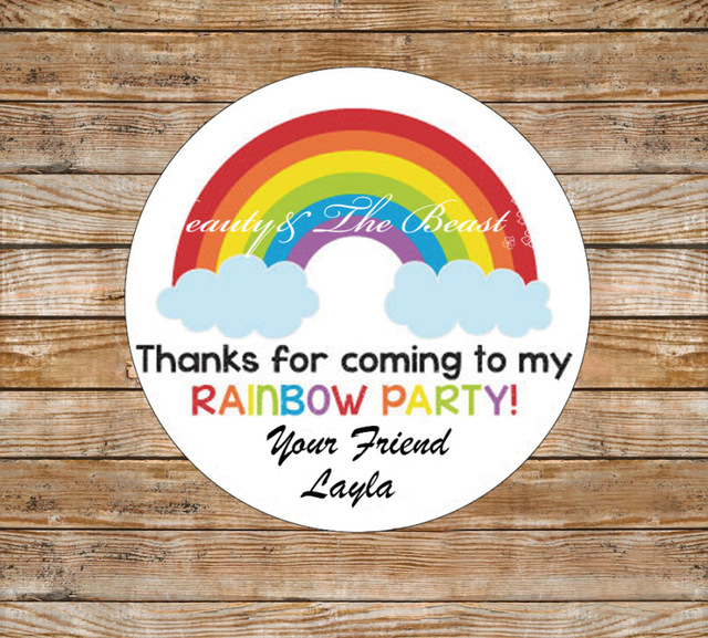 personalized stickers for birthday favors ; Personalized-Gift-Stickers-Rainbow-Birthday-Birthday-Favor-Stickers-Birthday-Stickers-for-Kids-Party-Favors-Baby-Shower