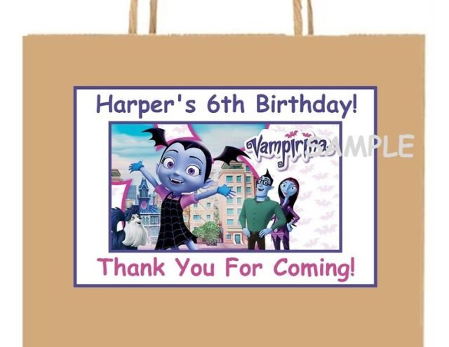 personalized stickers for birthday favors ; s-l640