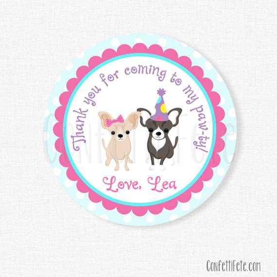 personalized tags for birthday favors ; il_570xN