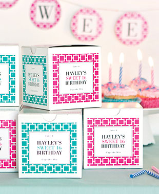 personalized tags for birthday favors ; kidteen-labels