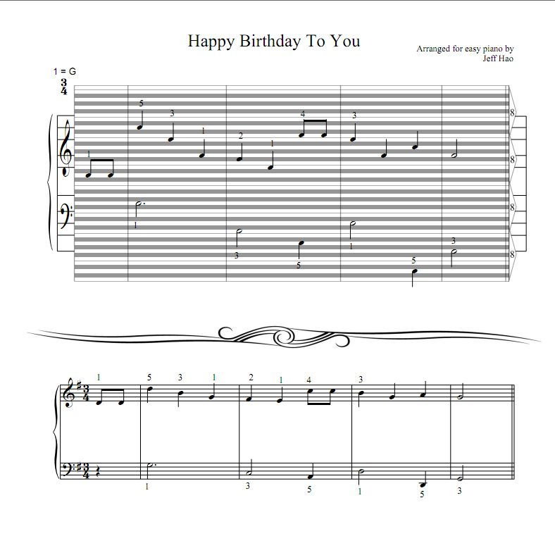 piano notes happy birthday to you ; birthday_s_p