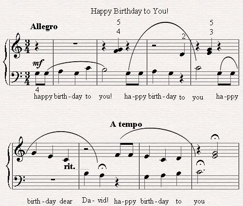 piano notes happy birthday to you ; happy-birthday