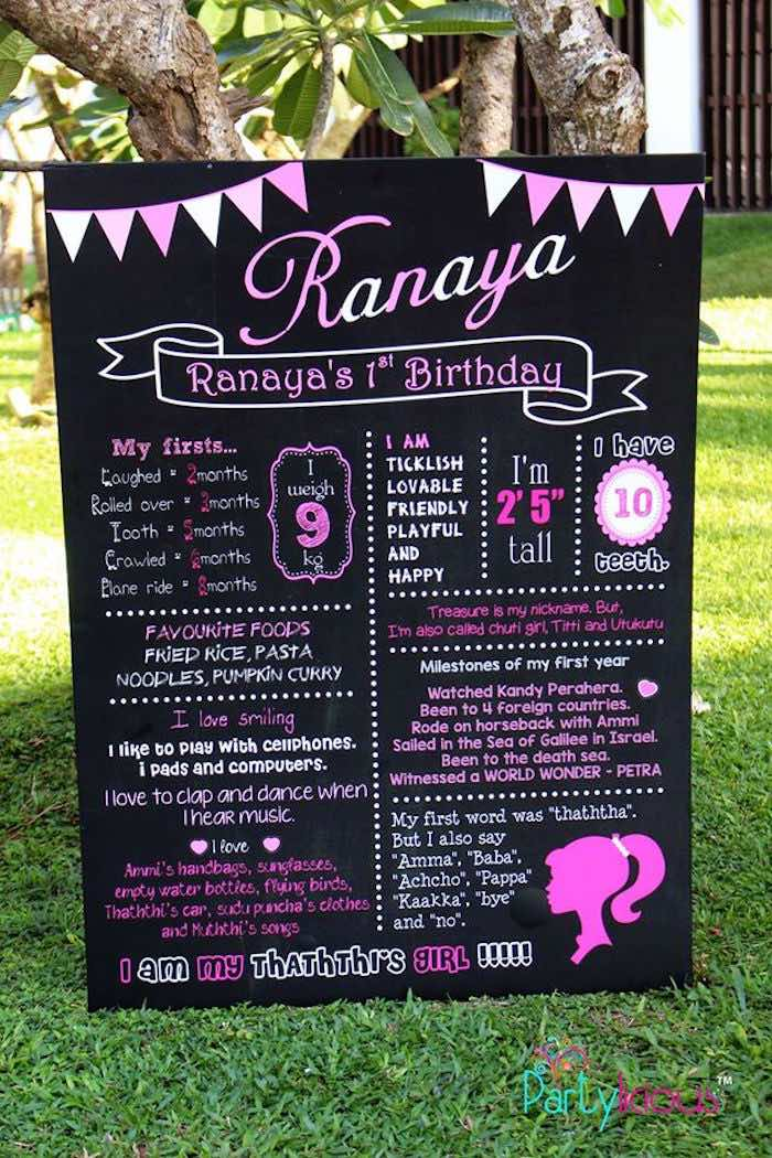 picture board for birthday party ; Barbie-Fashion-Birthday-Party-via-Karas-Party-Ideas-KarasPartyIdeas