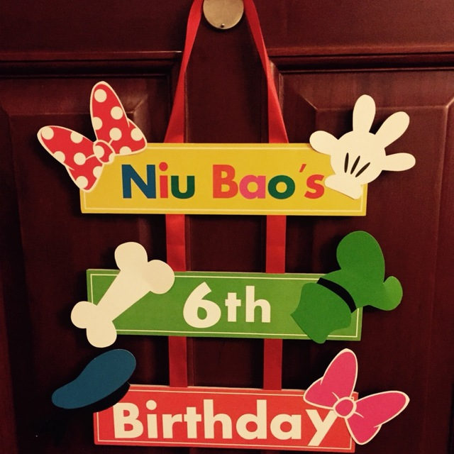 picture board for birthday party ; Customization-Welcome-Board-Kids-Birthday-Party-Decorations-Hanging-Baby-Shower-Cartoon-Dragon-Pattern-Paper-Board-Door
