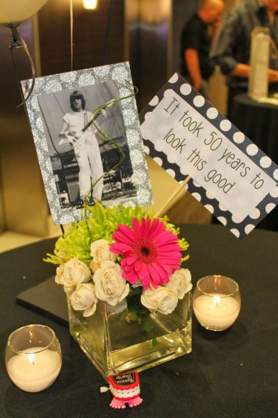 picture centerpieces for birthday party ; 50th-Birthday-Party-Decorations-Centerpiece