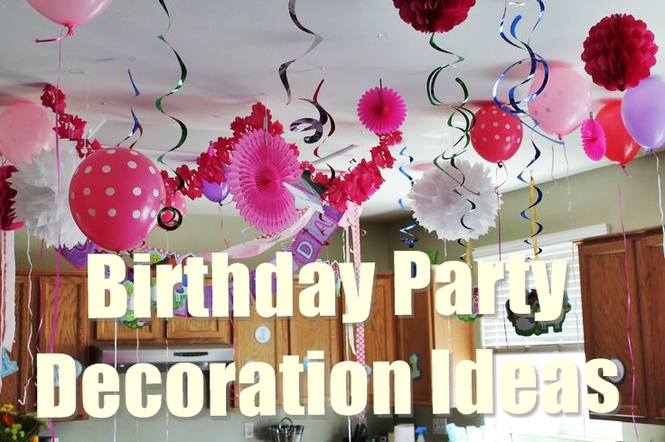picture centerpieces for birthday party ; Birthday-party-decoration-ideas