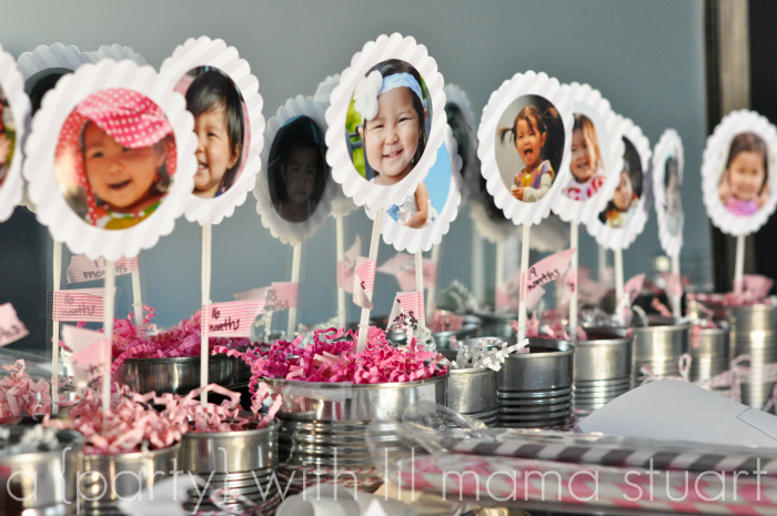 picture centerpieces for birthday party ; Cheap+Cute+Soup+Can+Centerpieces