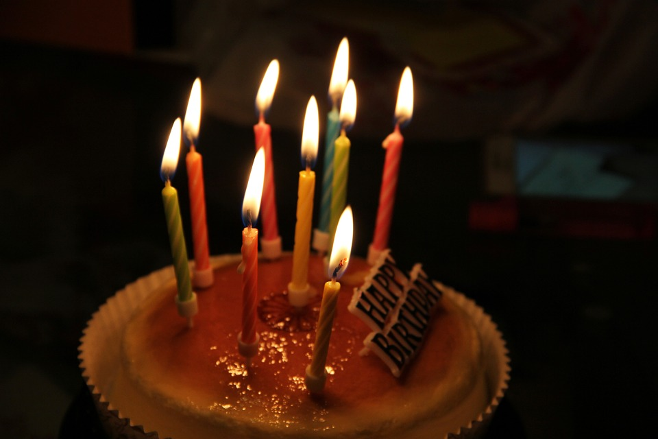picture of birthday cake with burning candles ; birthday-cake-982417_960_720