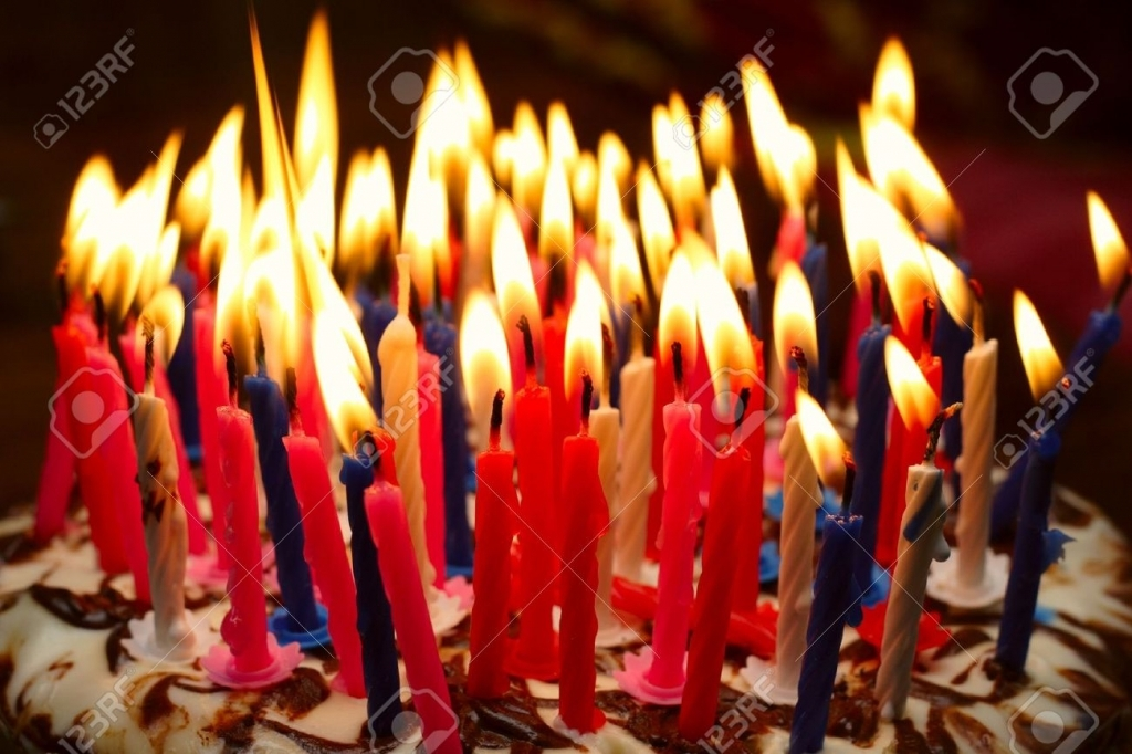 picture of birthday cake with burning candles ; birthday-cake-with-the-lot-of-burning-candles-stock-photo-picture-for-birthday-cake-with-lots-of-candles