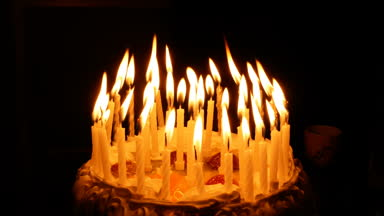 picture of birthday cake with burning candles ; depositphotos_147712601-stock-video-birthday-cake-with-burning-spiral