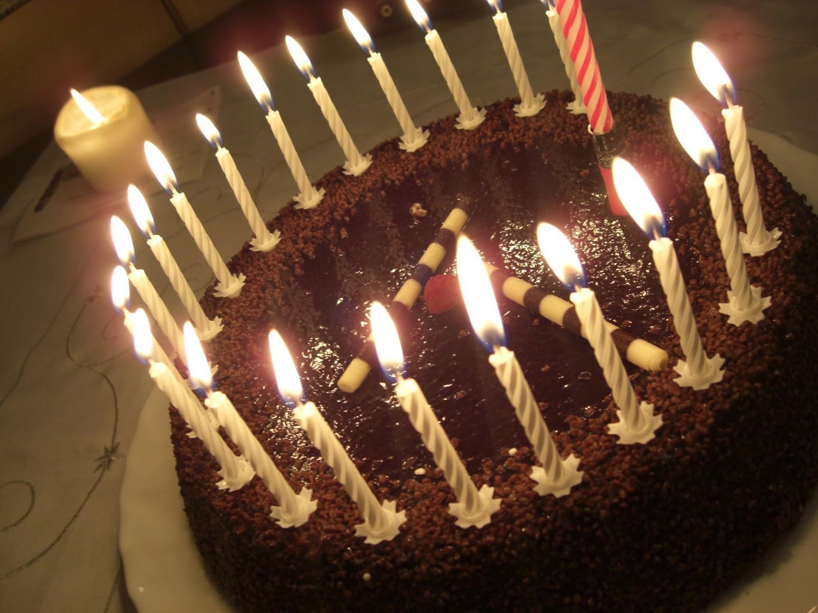 picture of birthday cake with burning candles ; images-birthday-cake-with-burning-candles