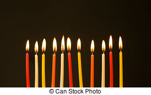 picture of birthday candles burning ; burning-birthday-candles-stock-photography_csp2409280