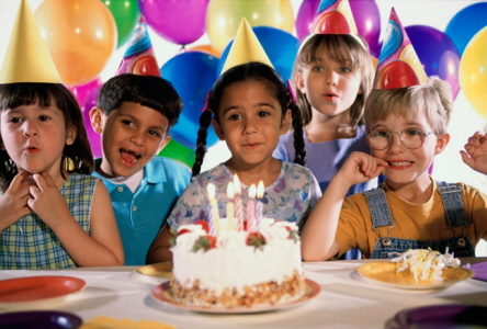 picture of birthday party celebration ; 115357-113344