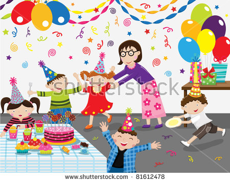 picture of birthday party celebration ; stock-vector-birthday-party-celebration-81612478