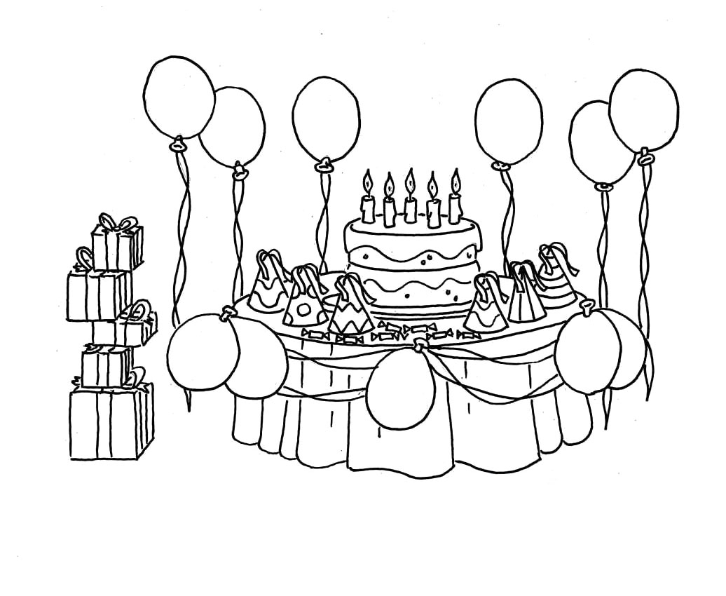 picture of birthday party scene ; birthday-party-scene-for-drawing-birthday-party-coloring-pages-bing-images-coloriage