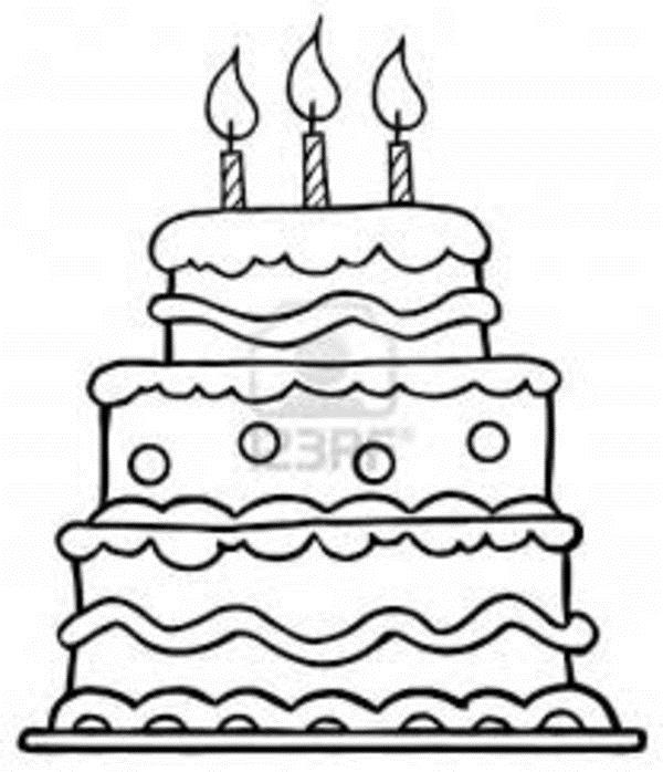 pictures of birthday cakes to colour in ; 785f4d67da675551ca2854dee1f43167