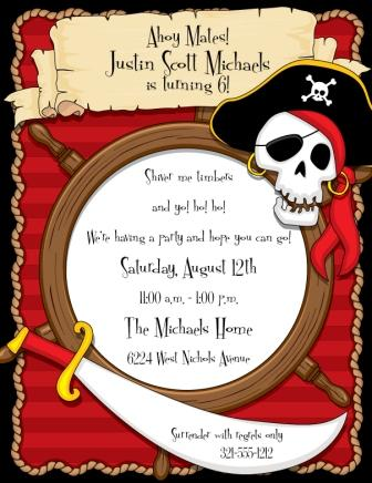 pirate birthday invitations with photo ; DP427-Pirate-Party