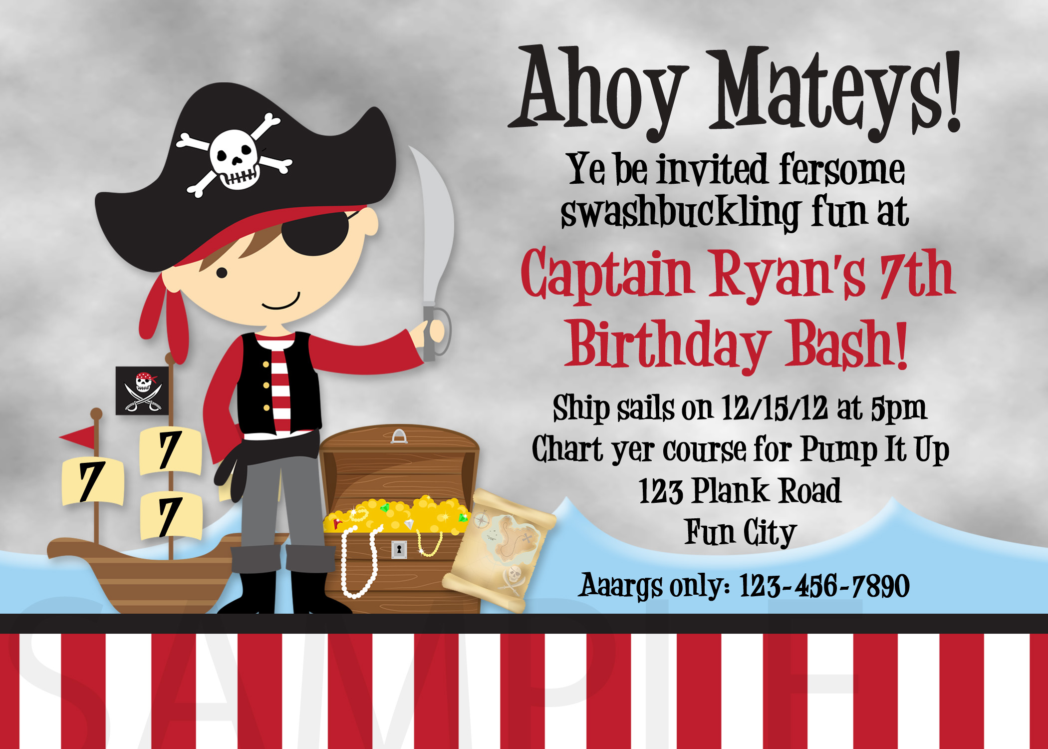 pirate birthday invitations with photo ; pirate-birthday-invitations-by-means-of-creating-exquisite-outlooks-around-your-Birthday-Invitation-Templates-1