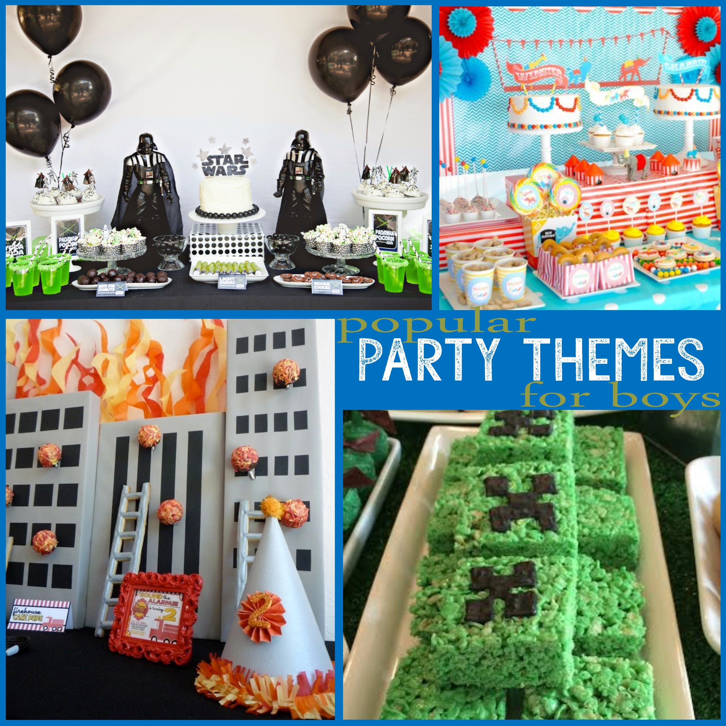 popular birthday party themes ; Popular-themes-for-Boys-1