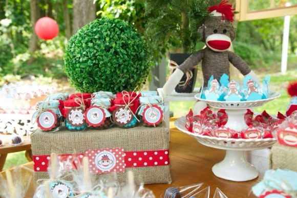 popular birthday party themes ; Sock-monkey-party-580x387
