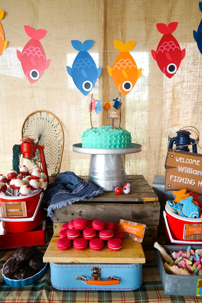 popular birthday party themes ; gone-fishing-birthday-party