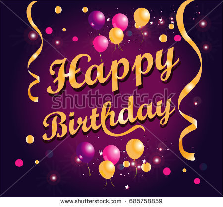 poster de happy birthday ; stock-vector-happy-birthday-poster-gold-text-with-balloons-on-purple-background-685758859