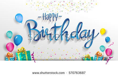 poster de happy birthday ; stock-vector-happy-birthday-typography-vector-design-for-greeting-cards-and-poster-with-balloon-confetti-and-570763687