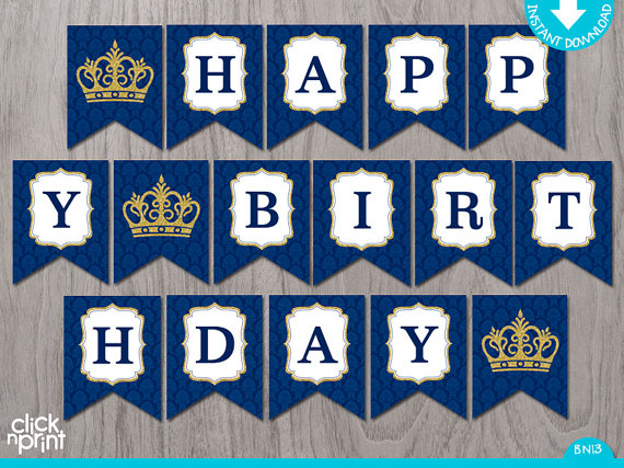 prince birthday sign ; il_570xN