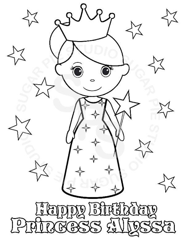 princess birthday coloring pages ; 4748cb5868cb2de19be8392af0443297