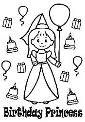 princess birthday coloring pages ; BirthdayPrincess-175x250