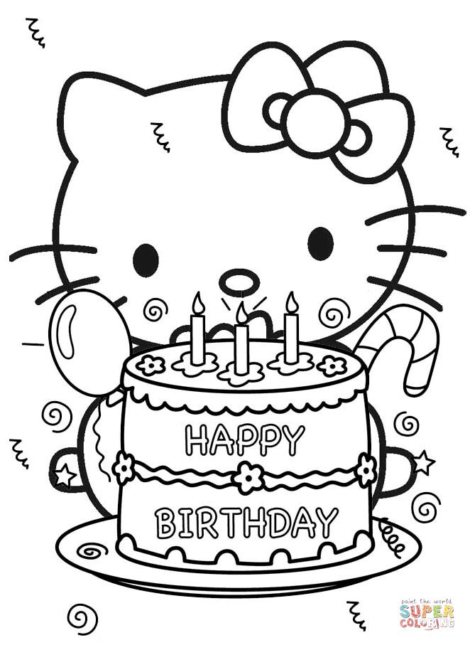 princess birthday coloring pages ; happy-birthday-hello-kitty-coloring-page