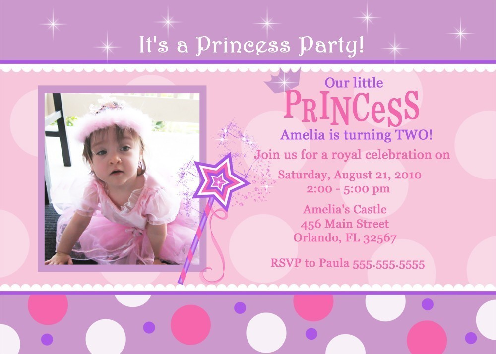 princess birthday invitation template ; Princess-birthday-party-invitation-wording-