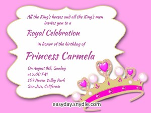 princess birthday invitation template ; princess-birthday-invitation-wording-300x225