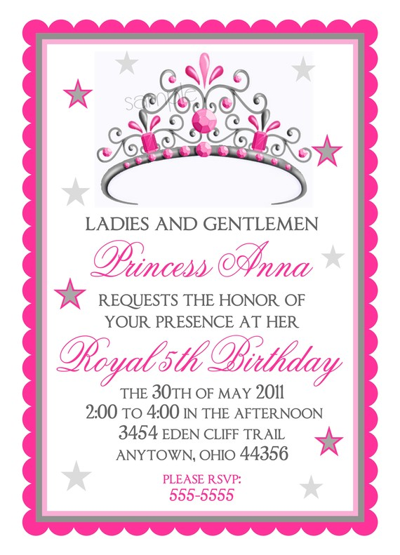 princess birthday invitations with photo ; 0c59766f05b333674c8a2facad4dcd95