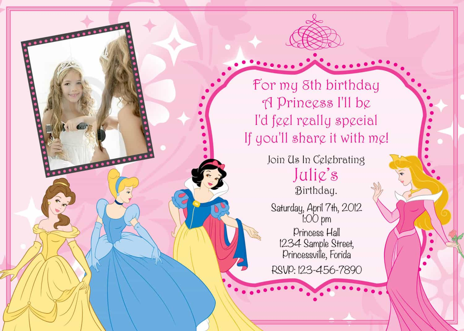 princess birthday invitations with photo ; best-princess-birthday-invitations-free-prepossessing-layout-the-unique-ideas-for-princess-birthday-invitations-egreeting-ecards-com
