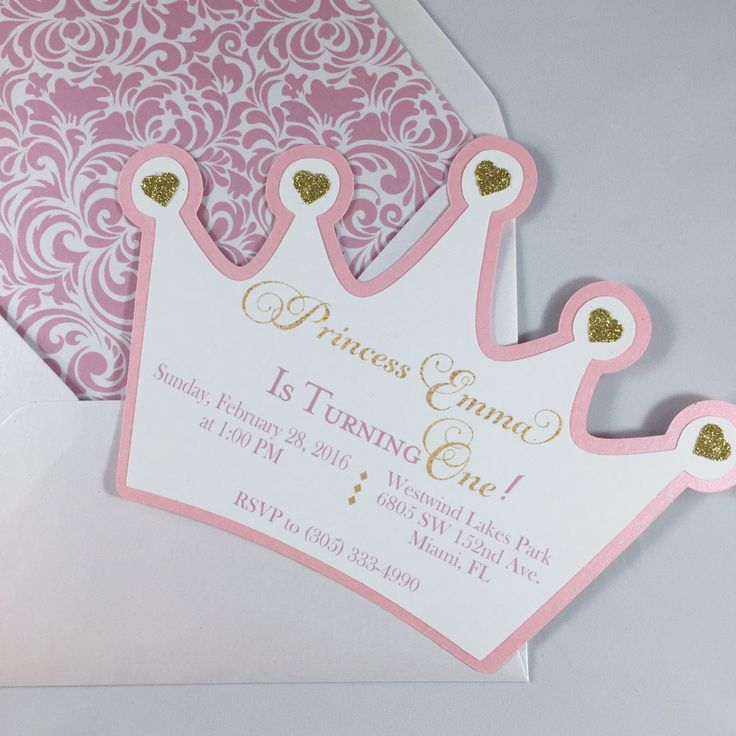 princess birthday invitations with photo ; princess-crown-birthday-invitation-pink-and-gold-by-fancyfunctiondesigns-on_princess-invitations-ideas-on-on-fairy-princess-birthday-invitations