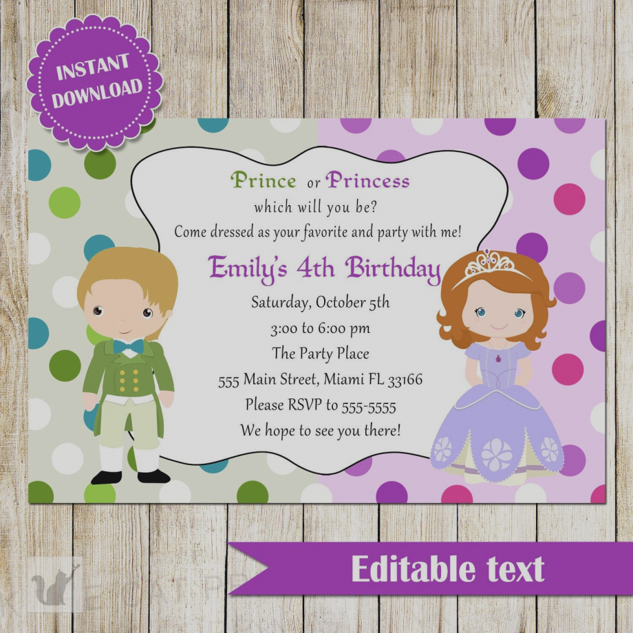 princess birthday party invitation template free ; images-invitation-princess-birthday-party-invitations-template-collections-free