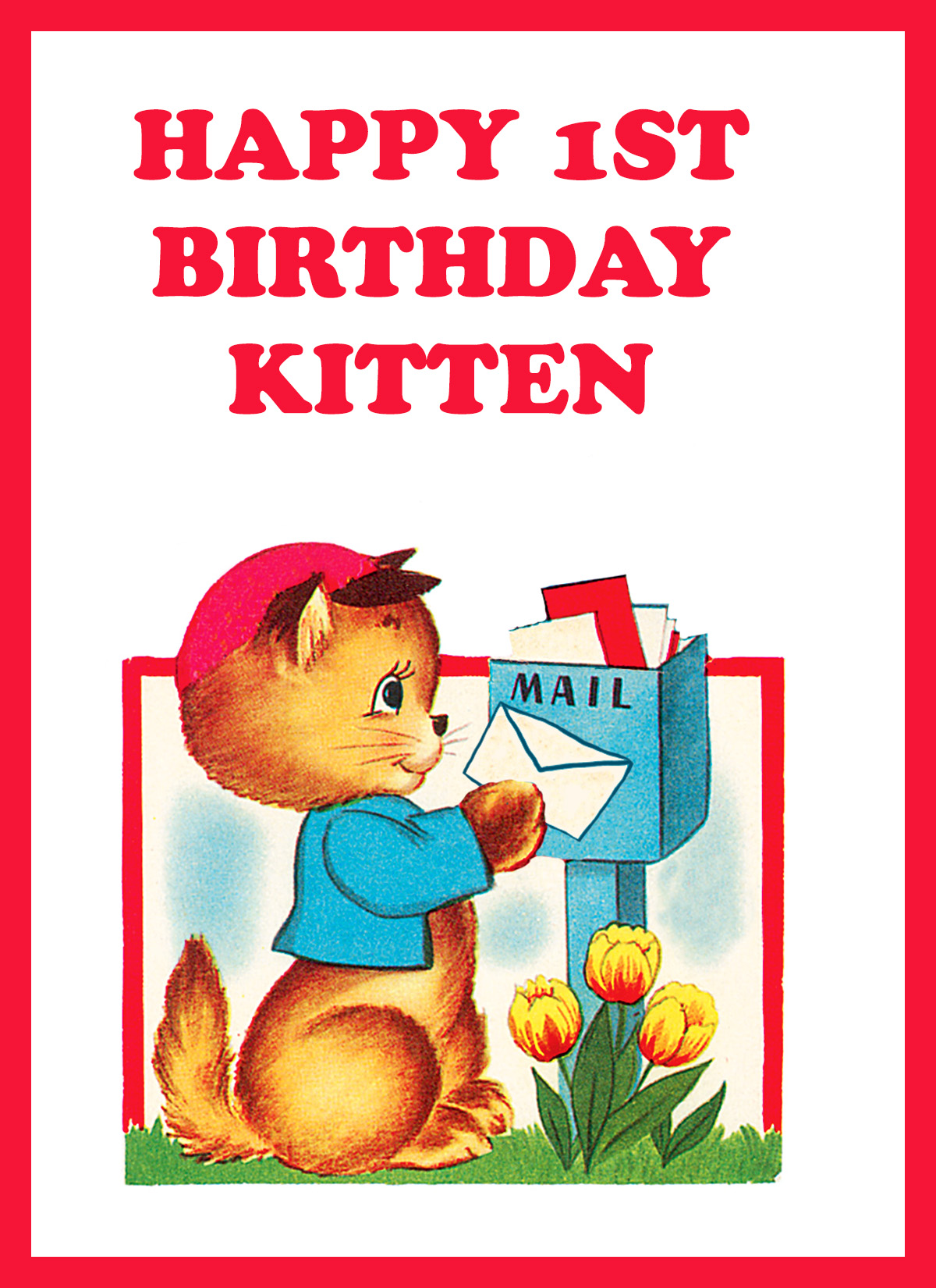 printable 1st birthday cards ; 1ST-birthday-card-kitten-sending-card1