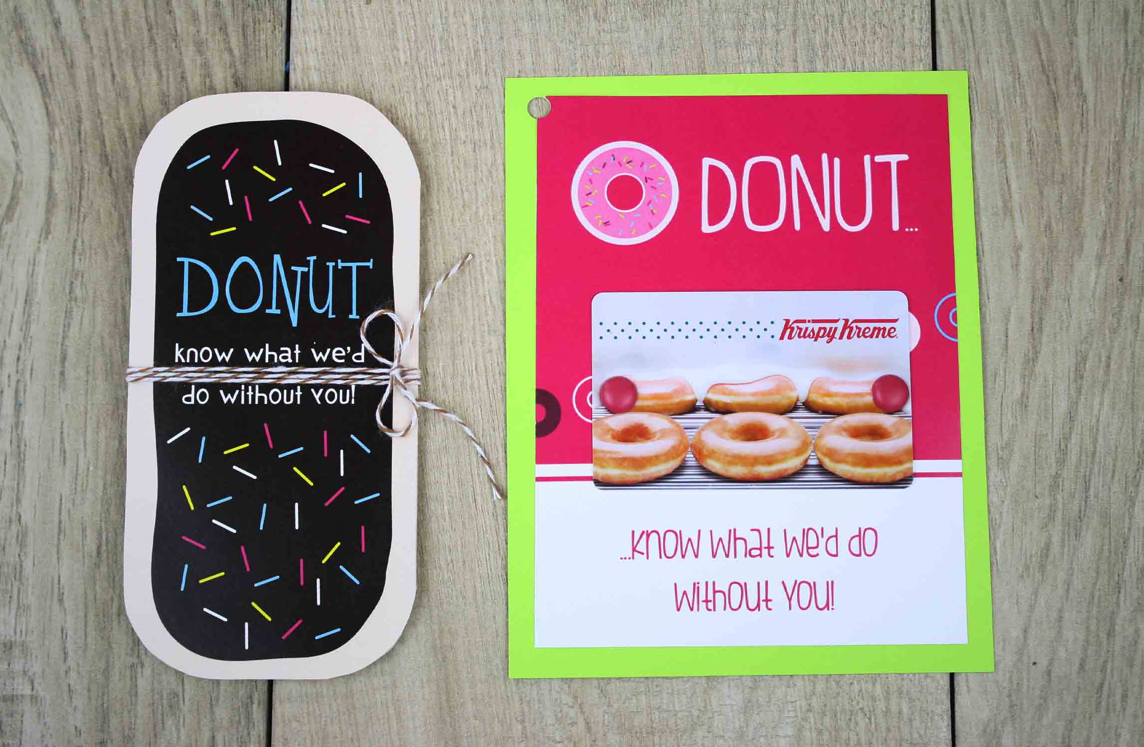 printable birthday gift card holders ; donut-shape-two-choices-1