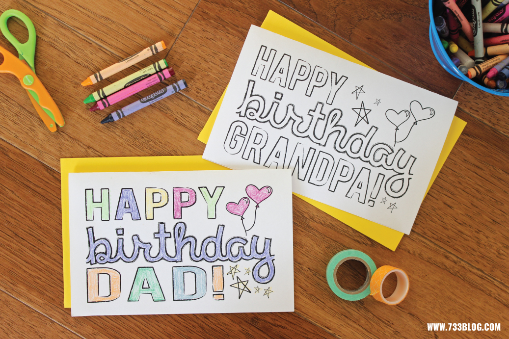 printable coloring birthday cards for dad ; printable-birthday-card