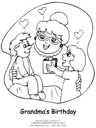 printable coloring birthday cards for grandma ; BirthGrandma1